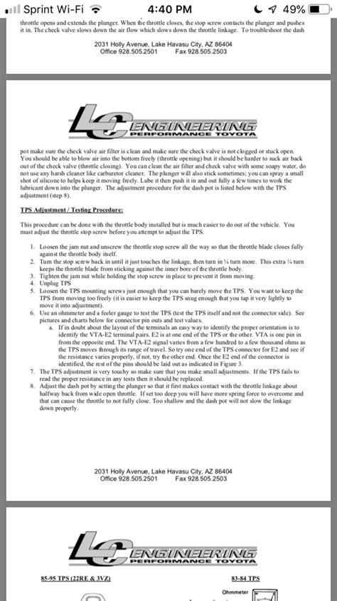 Sticky throttle solution | Tacoma World