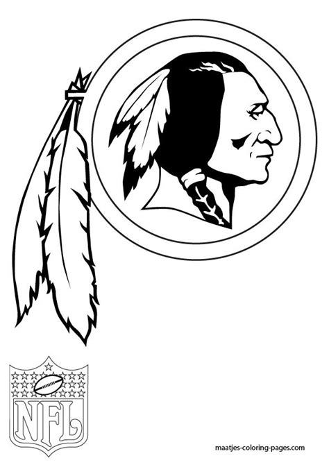 nfl symbols coloring pages redskins coloring page nfl pinterest coloring and