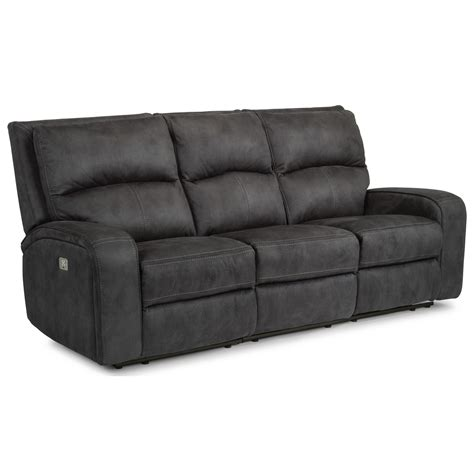 Flexsteel Latitudes Reclining Sofa Flexsteel Latitudes Rhapsody Contemporary Power Reclining