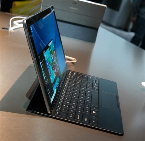 a samsung samsung galaxy tabpro s on an android less and absurdly thin surface rival
