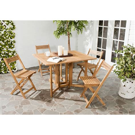 Space Saver Dining Table And Chair Set An Ingenious Space Saver Arvin Outdoor Dining Table And Chair Set Is Designed For Gracious