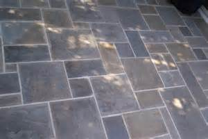 flagstone patio pattern backyard space ideas pinterest