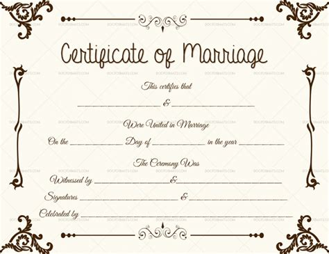 keepsake marriage certificate template marriage certificate template 22 editable for word