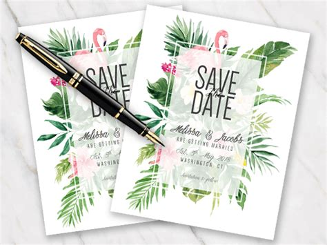 wedding save the date templates in word for free template