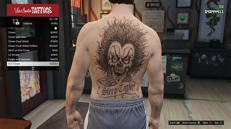 tattoo parlor gta 5 image tattoo gtav online male torso evil clown jpg gta