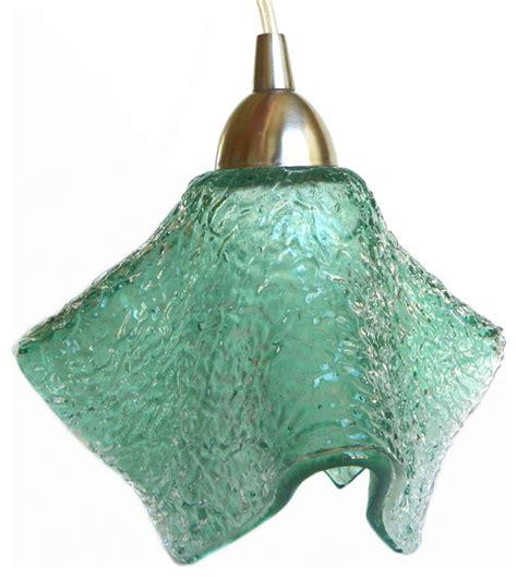 sea glass light fixture sea foam textured mini pendant light fixture pendant