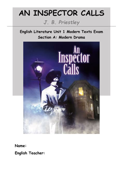 an inspector calls themes resources an inspector calls revision booklet by beckbockk