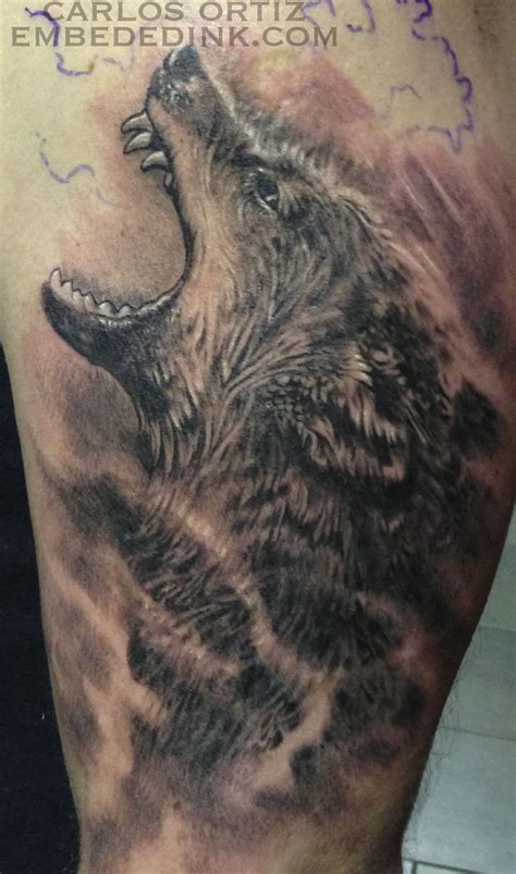 wolf sleeve tattoos wolf half sleeve carlos ortiz embeded ink embededink