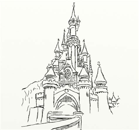 easy cinderella castle coloring coloring pages disney castle drawing castle coloring page drawing
