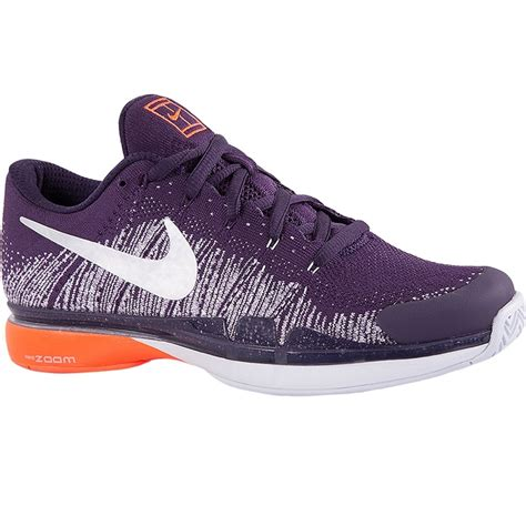 nike mens tennis shoes nike zoom vapor flyknit s tennis shoe purple crimson