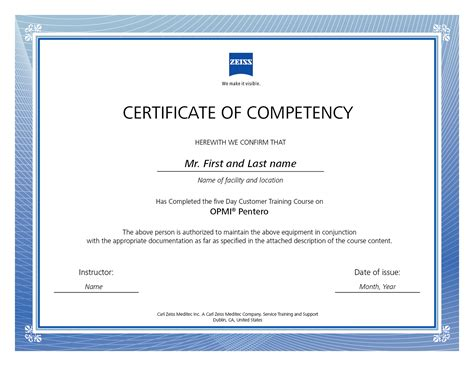 carl zeiss certificate of competency on behance
