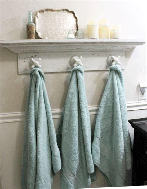 bathroom towel hanger someday crafts vintage faucet towel hangers