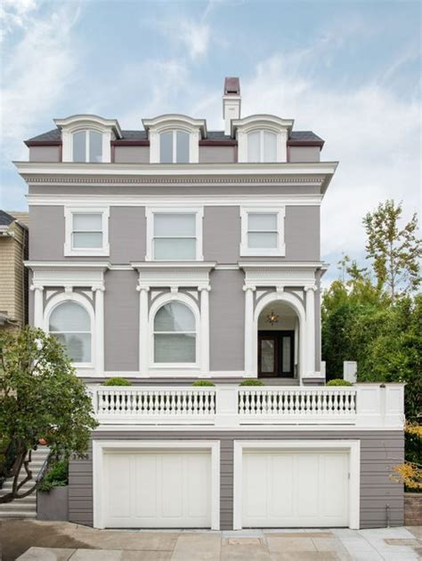 grey house gray house white trim houzz