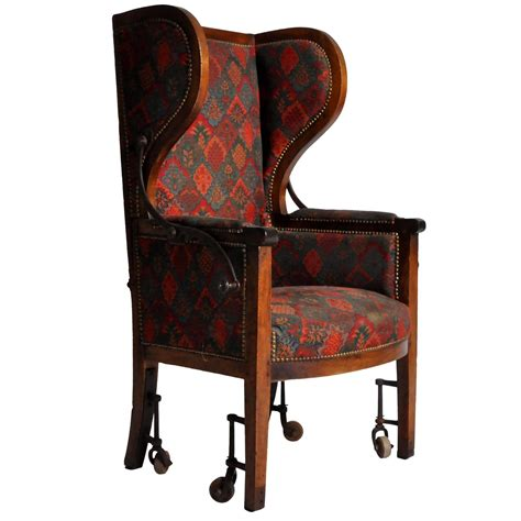 Reclining Wing Back Chairs by Reclining Wingback Chair At 1stdibs