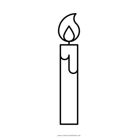 candela da colorare disegni candele da stare idee immagine di decorazione