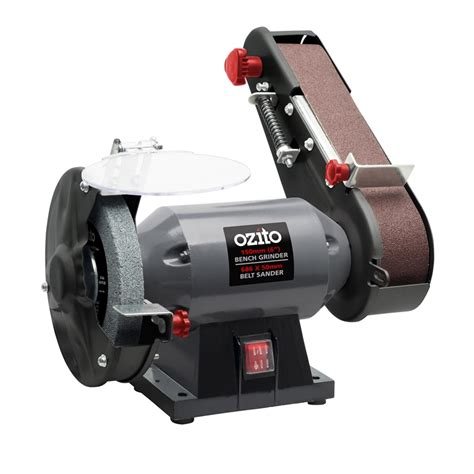 bench grinder sanding attachment ozito 240w bench grinder and belt sander bunnings warehouse