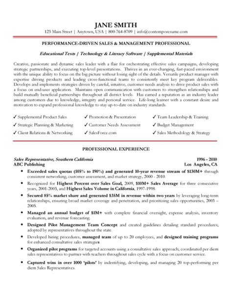 professional sales manager cv format management professional resume