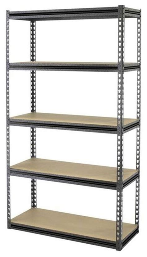 tactix 5 shelf 34 in steel shelving unit multicolor