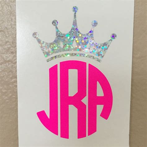 monogram ideas crown monogram decal tiara initials by