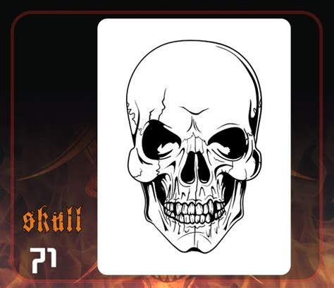 pin skull airbrush template ajilbabcom portal on pinterest