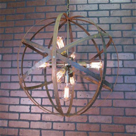 wine sphere chandelier rustic chandelier wine barrel ring light from