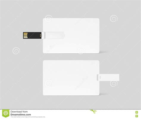 credit card usb design template modello di plastica bianco in bianco di progettazione di