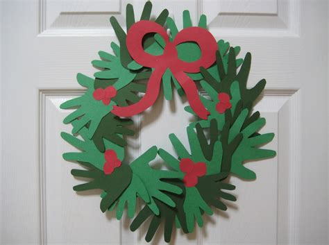 cook teach grow handprint wreath