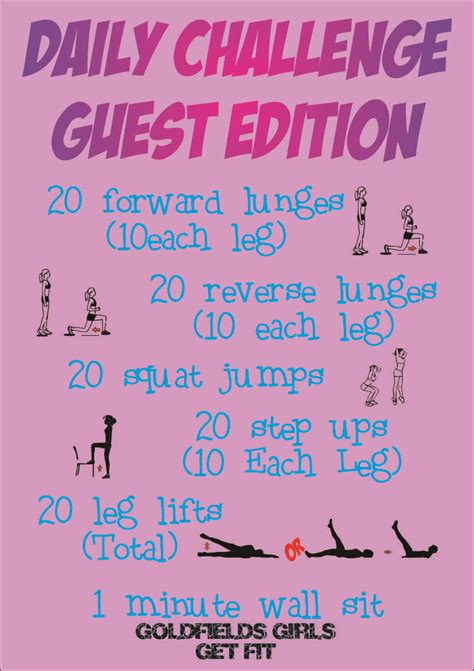 daily fitness challenge fitness challenges