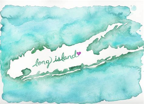 watercolor tattoo long island watercolor map of island for hurricane relief