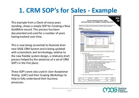 sle of sop template are sop s the secret to crm adoption success