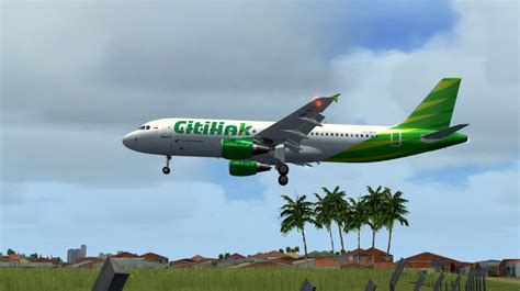 citilink flight code citilink airbus a320 200 pk glv for fsx