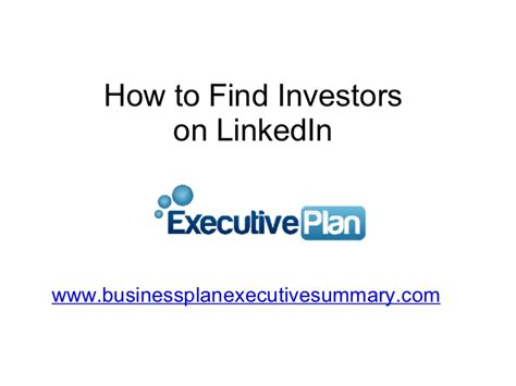 Find On Linkedin How To Find Investors On Linkedin
