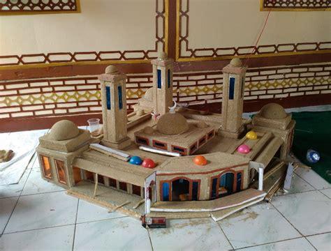 membuat lu tidur dari kardus membuat miniatur masjid dari kardus desain miniatur