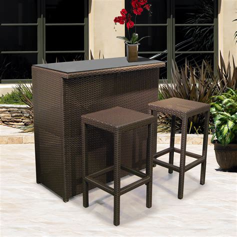 Patio Furniture Bar Set Patio Bar Sets Patio Design Ideas