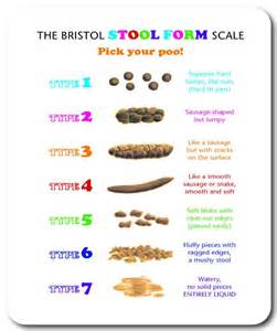 new bristol stool form scale mouse pad gift for