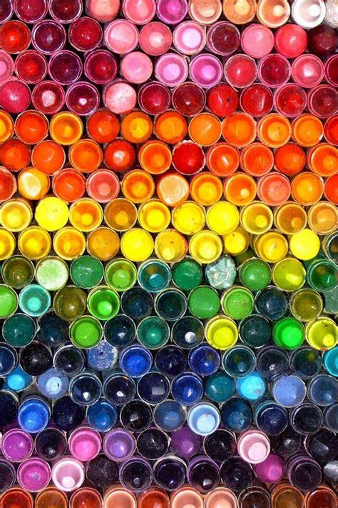rainbow crayons color