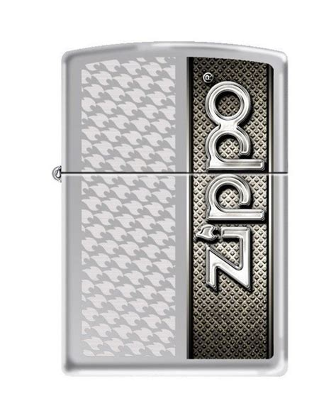 zippo 3273 zippo and flames high chrome size lighter