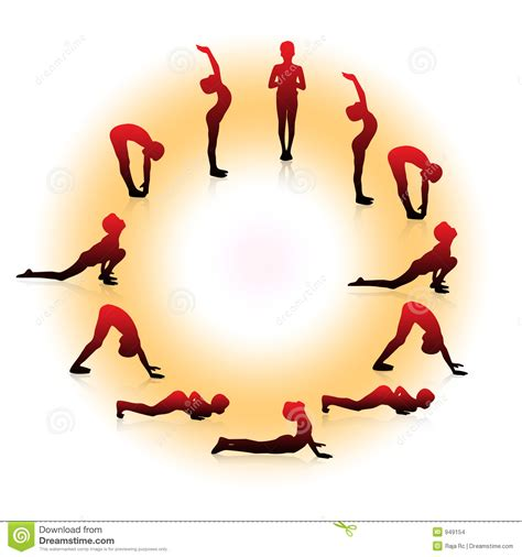 imagenes de yoga con luz surya namaskar imagenes de archivo imagen 949154