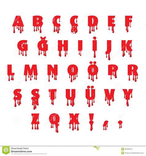 Letter With Blood Blood Fonts Alphabet Stock Illustration Image 32240474