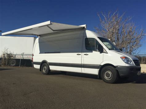 sprinter van awning 2012 2500 sprinter van 170 quot high top marketing van with awning
