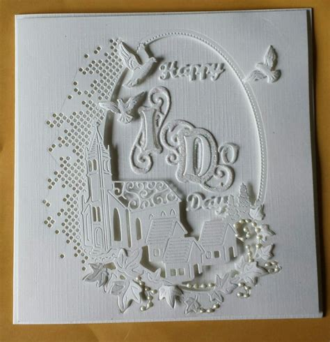 wedding card   tattered lace melded church die