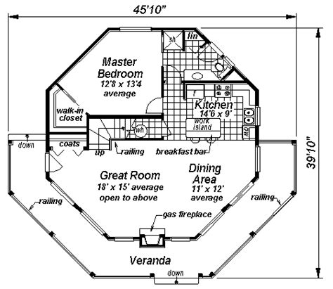 octagon house floor plans octagon house plans at coolhouseplans com