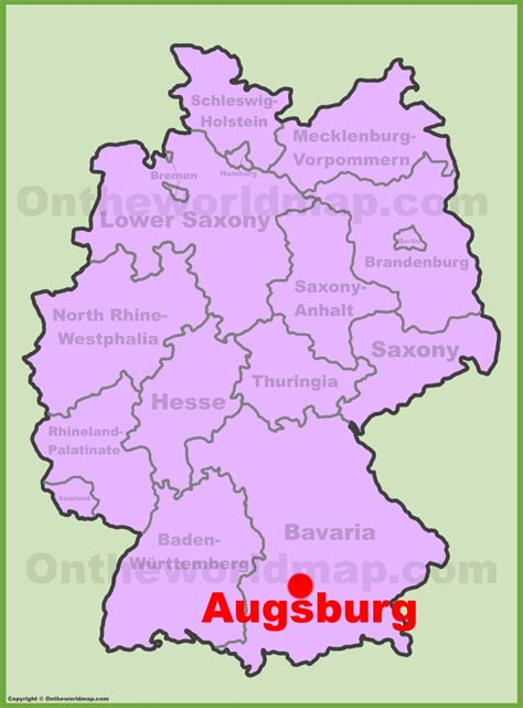 map augsburg germany augsburg location on the germany map