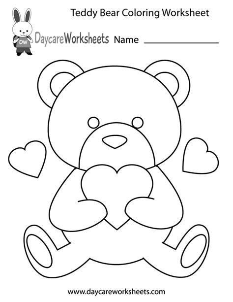 teddy bear coloring pages for preschoolers coloring pages preschool teddy bear coloring worksheet