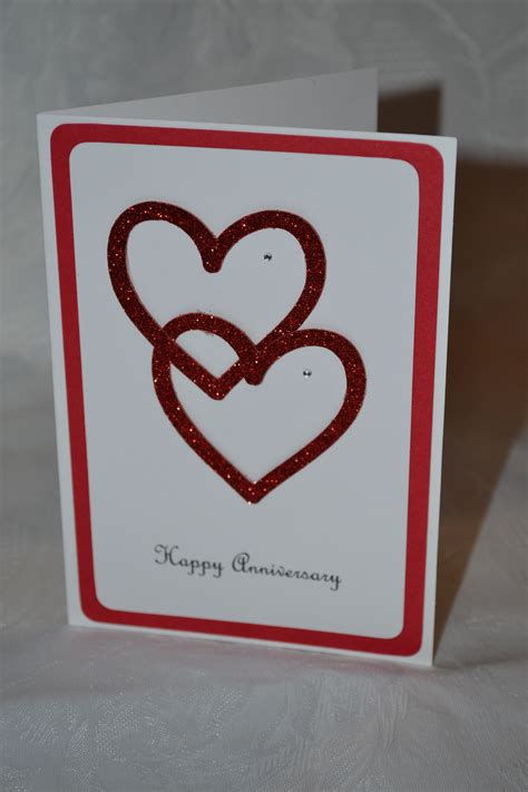 pin  kathy weber  heart cards anniversary cards