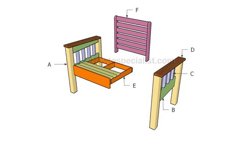 morris chair plans howtospecialist how to build step
