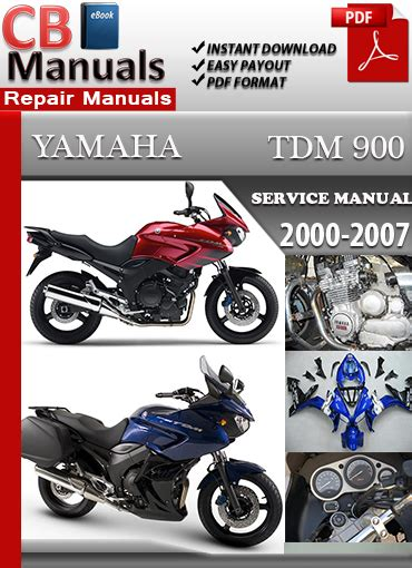 Yamaha Tdm 900 2000 2007 Service Manual Technical Repair