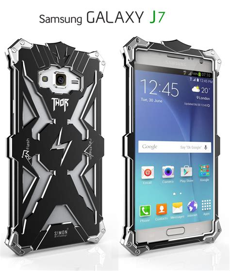 Ipaky Armor Bumper 360 Casing Samsung Galaxy J7 J710 2016 simon thor aviation aluminum alloy shockproof armor metal cover f armor king