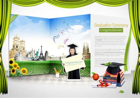 Graduation Card Template Landscape Psd by Graduation Concept Poster Psd Millions