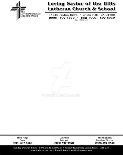 12 Church Letterhead Template Free Psd Eps Ai Church Stationery Templates